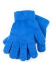 μπλε γάντι Στοκ Εικόνες