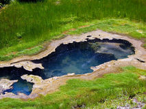 μπλε γεωθερμική λίμνη Στοκ Εικόνες