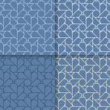 μπλε γεωμετρικός ανασκό&p abstract seamless wallpaper Χρωματισμένο σύνολο Στοκ φωτογραφία με δικαίωμα ελεύθερης χρήσης