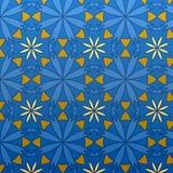 μπλε γεωμετρικό άνευ ραφή& Στοκ Φωτογραφία