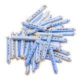 μπλε γκρίζοι κύλινδροι τ&rh Στοκ Φωτογραφία