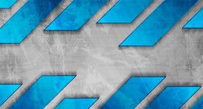 Μπλε γκρίζο αφηρημένο υπόβαθρο τεχνολογίας grunge διανυσματική απεικόνιση