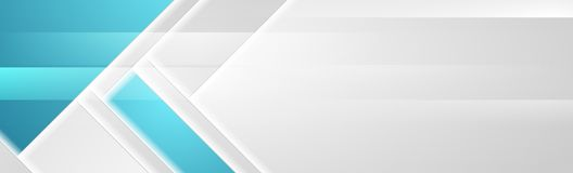 Μπλε γκρίζο γεωμετρικό αφηρημένο σχέδιο εμβλημάτων τεχνολογίας ελεύθερη απεικόνιση δικαιώματος
