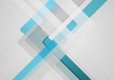 Μπλε γκρίζο γεωμετρικό αφηρημένο υπόβαθρο τεχνολογίας διανυσματική απεικόνιση