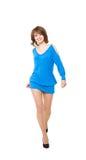 μπλε γοητευτικό κορίτσι Στοκ εικόνες με δικαίωμα ελεύθερης χρήσης
