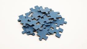 μπλε γρίφος μερών Στοκ φωτογραφία με δικαίωμα ελεύθερης χρήσης