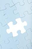 Μπλε γρίφος τορνευτικών πριονιών το άσπρο κομμάτι που λείπουν με Στοκ Εικόνες