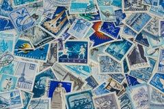 Μπλε γραμματόσημα Στοκ φωτογραφία με δικαίωμα ελεύθερης χρήσης
