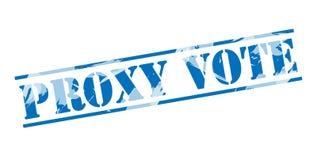 Μπλε γραμματόσημο ψηφοφορίας πληρεξούσιου απεικόνιση αποθεμάτων