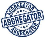 μπλε γραμματόσημο aggregator Διανυσματική απεικόνιση