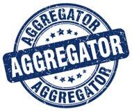 μπλε γραμματόσημο aggregator Απεικόνιση αποθεμάτων
