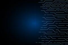 Μπλε γραμμών κυκλωμάτων αφηρημένο τεχνολογίας σχέδιο υποβάθρου ηλεκτρικής ενέργειας μελλοντικό ΔΙΑΝΥΣΜΑΤΙΚΟ Στοκ Φωτογραφία