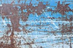μπλε γρατσουνισμένη μέτα&lambd Στοκ Φωτογραφίες