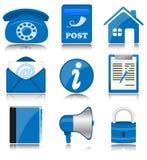 μπλε γραφείο εικονιδίων διανυσματική απεικόνιση