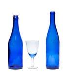 μπλε γυαλί μπουκαλιών δύ&om Στοκ εικόνα με δικαίωμα ελεύθερης χρήσης