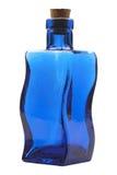μπλε γυαλί μπουκαλιών Στοκ Εικόνα