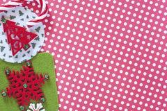 μπλε γυαλί σύνθεσης Χριστουγέννων μπιχλιμπιδιών Στοκ φωτογραφίες με δικαίωμα ελεύθερης χρήσης