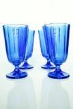 μπλε γυαλιά Στοκ Εικόνες