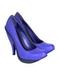 μπλε γυναίκες παπουτσι Στοκ φωτογραφία με δικαίωμα ελεύθερης χρήσης