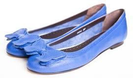 μπλε γυναίκες παπουτσι Στοκ Εικόνα