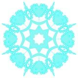 Μπλε δαντελλωτός snowflake επίσης corel σύρετε το διάνυσμα απεικόνισης διανυσματική απεικόνιση
