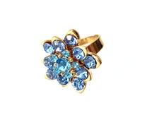 μπλε δαχτυλίδι διαμαντιώ& Στοκ φωτογραφία με δικαίωμα ελεύθερης χρήσης