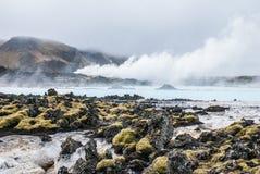 Μπλε δεξαμενή χώνευσης, Ισλανδία στοκ φωτογραφία