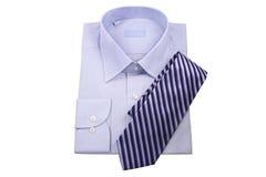 μπλε δεσμός πουκάμισων Στοκ Φωτογραφίες