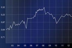 μπλε διάγραμμα Στοκ εικόνα με δικαίωμα ελεύθερης χρήσης