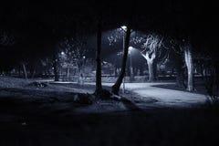 Μπλε διάθεση στο πάρκο Στοκ Εικόνες