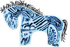 μπλε διάνυσμα αλόγων ελεύθερη απεικόνιση δικαιώματος