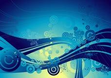 μπλε διάνυσμα ανασκόπηση&sig Στοκ Εικόνες