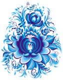 μπλε διάνυσμα απεικόνισης λουλουδιών Στοκ Φωτογραφίες