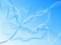 μπλε διάνυσμα γραμμών κυματιστό απεικόνιση αποθεμάτων