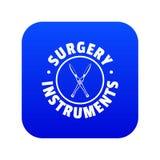 Μπλε διάνυσμα εικονιδίων οργάνων χειρουργικών επεμβάσεων διανυσματική απεικόνιση