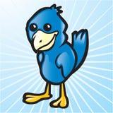 μπλε διάνυσμα πουλιών Στοκ Εικόνες