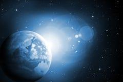 μπλε διάστημα Στοκ φωτογραφία με δικαίωμα ελεύθερης χρήσης