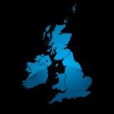 μπλε διαιρέστε το χάρτη UK ελεύθερη απεικόνιση δικαιώματος