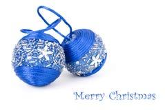 μπλε διακοσμήσεις συλ& Στοκ εικόνα με δικαίωμα ελεύθερης χρήσης