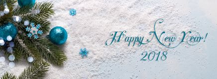 μπλε διακοσμήσεις Χρισ&t Στοκ φωτογραφία με δικαίωμα ελεύθερης χρήσης