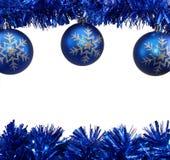 μπλε διακοσμήσεις Χρισ&t Στοκ Εικόνα