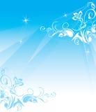 μπλε διακοσμητική floral δια&kapp διανυσματική απεικόνιση