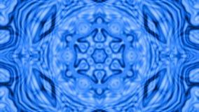 μπλε διακόσμηση καλειδοσκόπιων, τηλεοπτική ζωτικότητα απόθεμα βίντεο