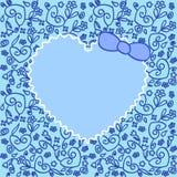 μπλε διακόσμηση καρδιών Στοκ Εικόνα