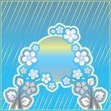 μπλε διακόσμηση λουλο&ups Στοκ εικόνες με δικαίωμα ελεύθερης χρήσης
