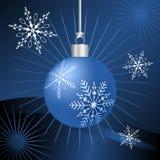 μπλε διακόσμηση Χριστουγέννων διανυσματική απεικόνιση