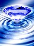 μπλε διαμάντι διανυσματική απεικόνιση