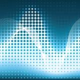 μπλε διανυσματικά κύματα Στοκ Εικόνες