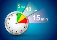 Μπλε διανυσματική ανασκόπηση με το χρονόμετρο Στοκ φωτογραφία με δικαίωμα ελεύθερης χρήσης