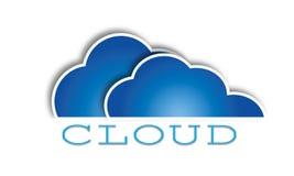 Μπλε διανυσματικό σχέδιο προτύπων λογότυπων σύννεφων ελεύθερη απεικόνιση δικαιώματος